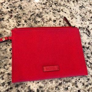 Michael Kors Small Red Makeup Bag Wristlet